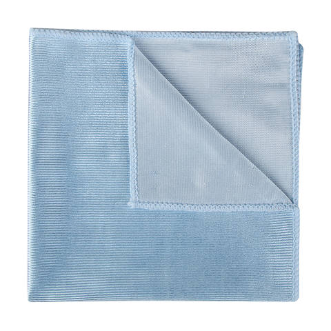 blue glass cloth