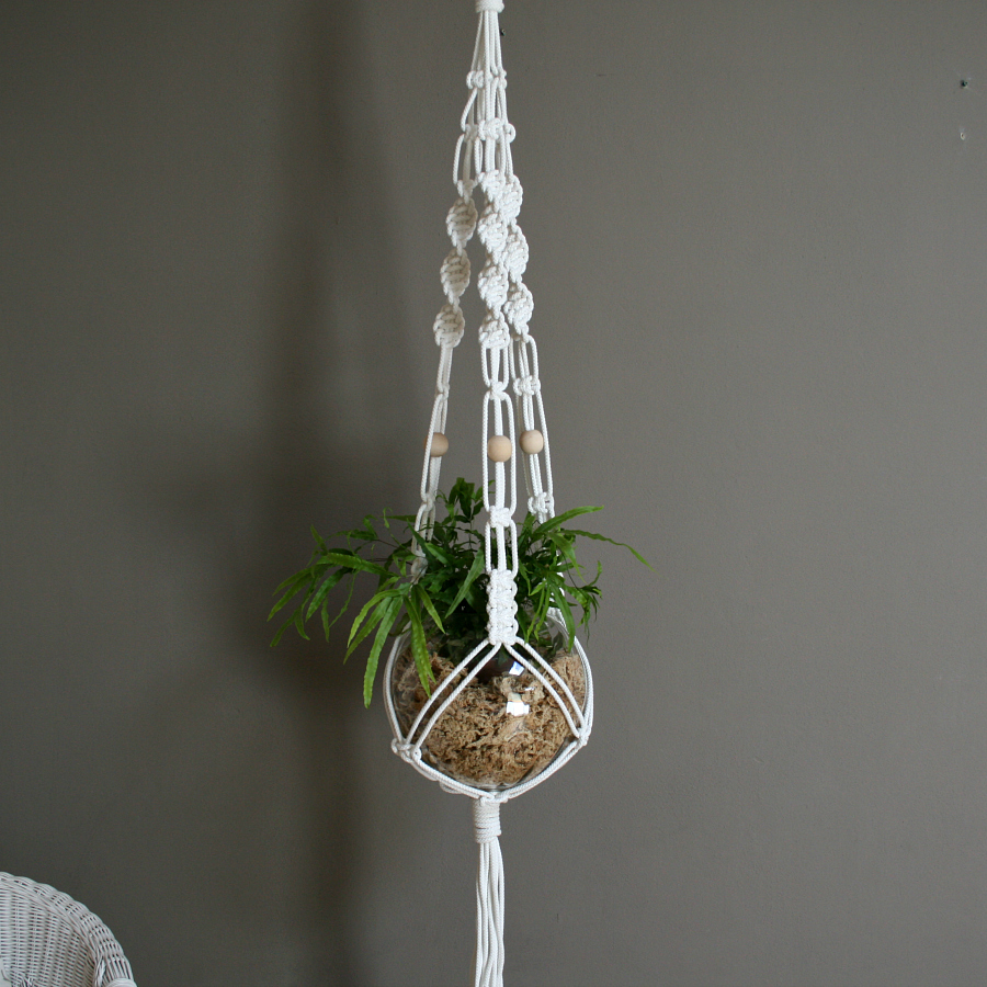 macrame knots plant hangers white macrame plant hanger by the knot studio miss v 832